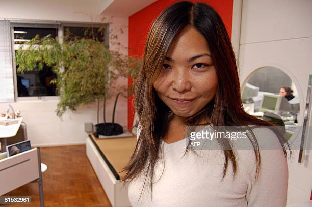 Luciana Sugino known as a Sansei in Brazil a third generation BrazilianJapanese poses for a photograph on June 11 2008 in Sao Paulo Sugino is the...