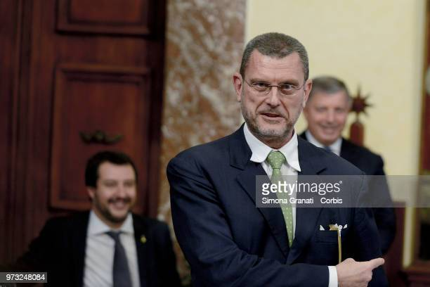 Luciano Barra Caracciolo during the oath of the Vice Presidents and Subsecretaries at Palazzo Chigi on June 13 2018 in Rome Italy The Italian...