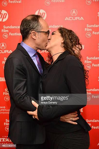 Luciano Bortoluzzi and Anna Muylaert attend 'The Second Mother' Premiere 2015 Sundance Film Festival during the 2015 Sundance Film Festival on...