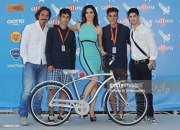 Luciano Cannito Rossella Brescia and Nicolo Noto attend 2012 Giffoni Film Festival Photocall on July 18 2012 in Giffoni Valle Piana Italy