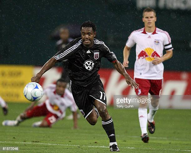 Luciano Emilio of D.C. United scored two goals in the first half during an MLS match against the New York Red Bulls at R.F.K stadium 0n June 14, 2008...