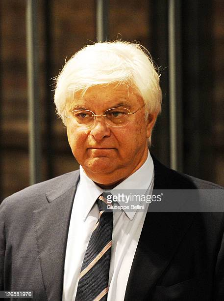 Luciano Ghirga lawyer of Amanda Knox attends the appeal hearing at Perugia's court of appeal on September 26 2011 in Perugia Italy Amanda Knox and...