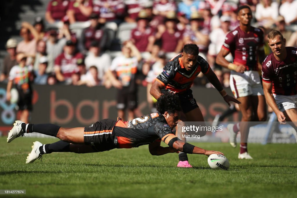 NRL Rd 7 - Wests Tigers v Sea Eagles : News Photo