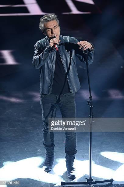 Luciano Ligabue attends closing night of the 64th Festival di Sanremo 2014 at Teatro Ariston on February 22 2014 in Sanremo Italy