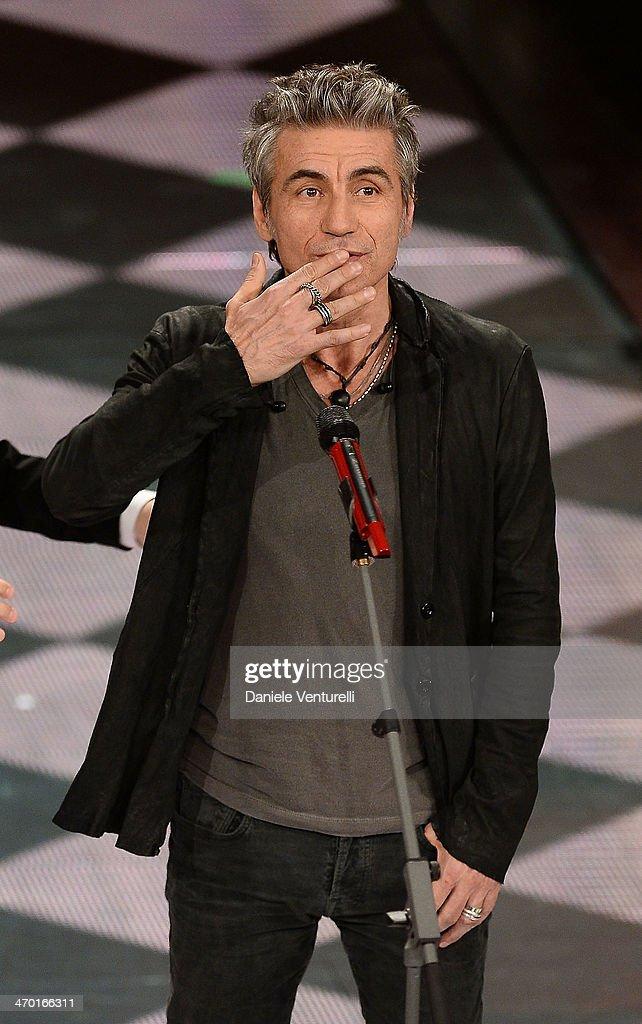 Luciano Ligabue attends the opening night of the 64th Festival di Sanremo 2014 at Teatro Ariston on February 18, 2014 in Sanremo, Italy.