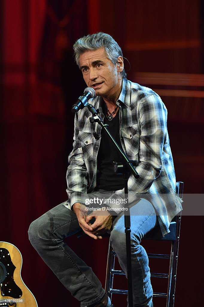 Luciano Ligabue performs at 'Che Tempo Che Fa' TV Show on November 30, 2014 in Milan, Italy.