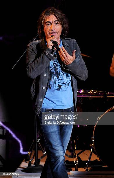 Luciano Ligabue performs during 'Che Tempo Che Fa' Italian Tv Show held at Rai Studios on October 2 2010 in Milan Italy