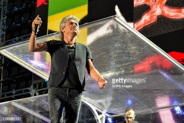 Luciano Ligabue performs live on stage at the Stadio Olimpico Grande Torino in Turin for the Start Tour 2019