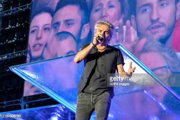 Luciano Ligabue performs live on stage during the music tour 2019 at the Stadio Olimpico Grande Torino in Turin