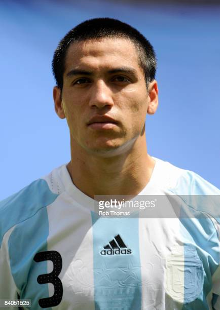 Luciano Monzon of Argentina during the Men's Gold Medal football match between Nigeria and Argentina at the National Stadium on Day 15 of the Beijing...