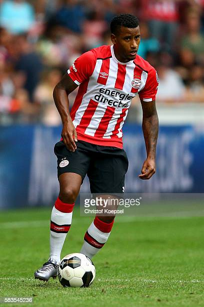 Luciano Narsingh of Eindhoven runs with the ball during the friendly match between FC Eindhoven and PSV Eindhoven at Philips Stadium on July 26 2016...