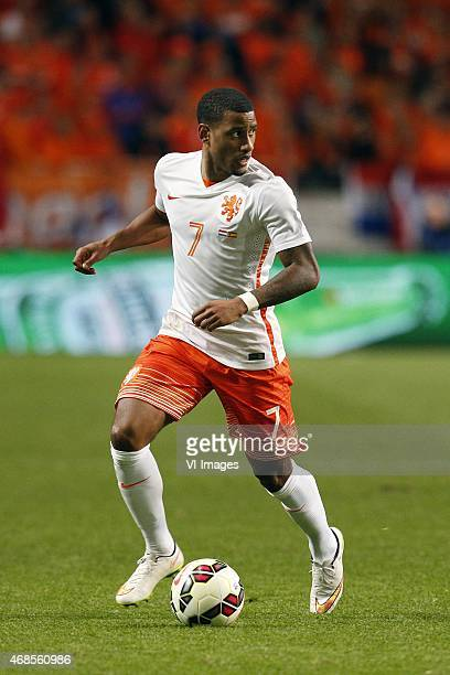 Luciano Narsingh of Holland during the International friendly match between Netherlands and Spain on March 31 2015 at the Amsterdam Arena in...