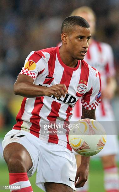 Luciano Narsingh of PSV Eindhoven in action during the UEFA Europa League group stage match between FC Dnipro Dnipropetrovsk and PSV Eindhoven on...