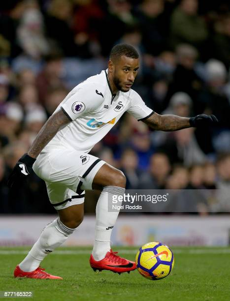 Luciano Narsingh of Swansea City during the Premier League match between Burnley and Swansea City at Turf Moor on November 18 2017 in Burnley England