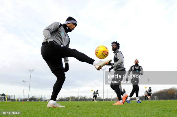 Luciano Narsingh of Swansea City in action during the Swansea City Training at The Fairwood Training Ground on January 08 2019 in Swansea Wales