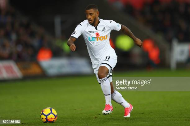 Luciano Narsingh of Swansea during the Premier League match between Swansea City and Brighton and Hove Albion at the Liberty Stadium on November 4...