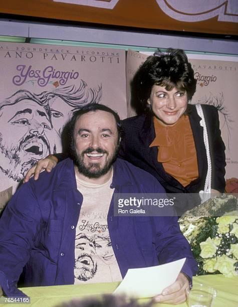 Luciano Pavarotti and Adua Veroni