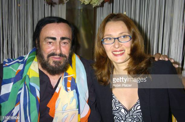 Luciano Pavarotti and wife Nicoletta during The Re-opening of San Domenico Restaurant at San Domenico Restaurant in New York, New York, United States.