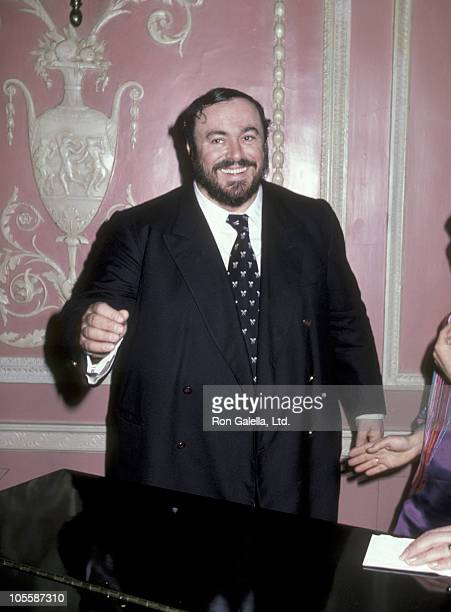 Luciano Pavarotti during Benefit Hosted by Luciano Pavarotti at Waldorf Astoria Hotel in New York City New York United States