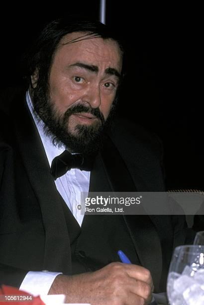 Luciano Pavarotti during Luciano Pavarotti at Xaverian High School Joe DiMaggio Awards Dinner at Marriott Marquis Hotel in New York City New York...