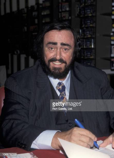 Luciano Pavarotti during Luciano Pavarotti Signing Autographs at the Metropolitan Opera Shop at Lincoln Center in New York City New York United States