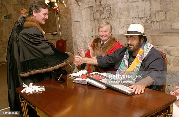 Luciano Pavarotti during Luciano Pavarotti to Receive Freedom of the City of London September 12 2005 at Guildhall in London Great Britain