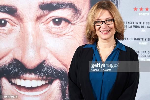 Luciano Pavarotti Foundation President Nicoletta Mantovani Pavarotti attends 'Pavarotti' photocall at the Intercontinental Hotel on December 17, 2019...