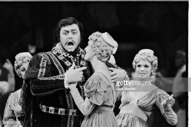 Luciano Pavarotti in 'Rigoletto' at the Metropolitan Opera in June 1972