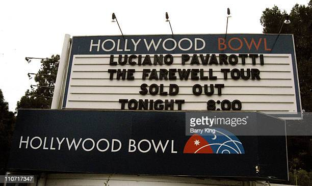 The Farewell Tour Sign at the Hollywood Bowl in Hollywood California