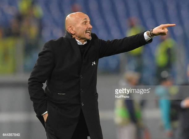 Luciano Spalletti during the Europe League football match AS Roma vs Villarreal at the Olympic Stadium in Rome on february 23 2017