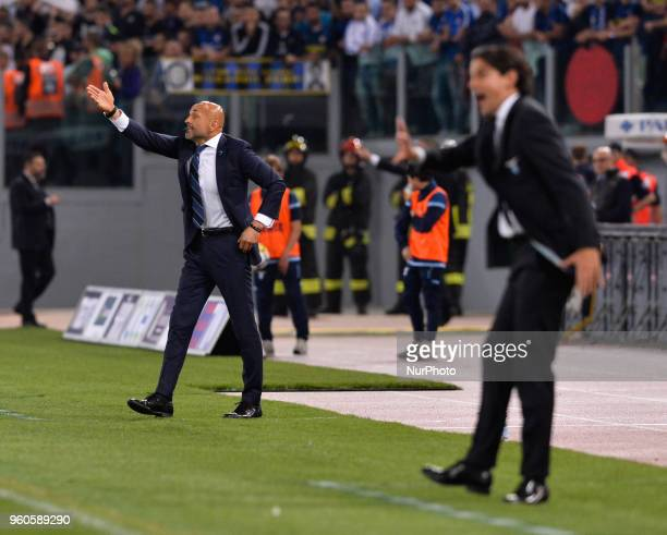 Luciano Spalletti during the Italian Serie A football match between SS Lazio and FC Inter at the Olympic Stadium in Rome on may 20 2018