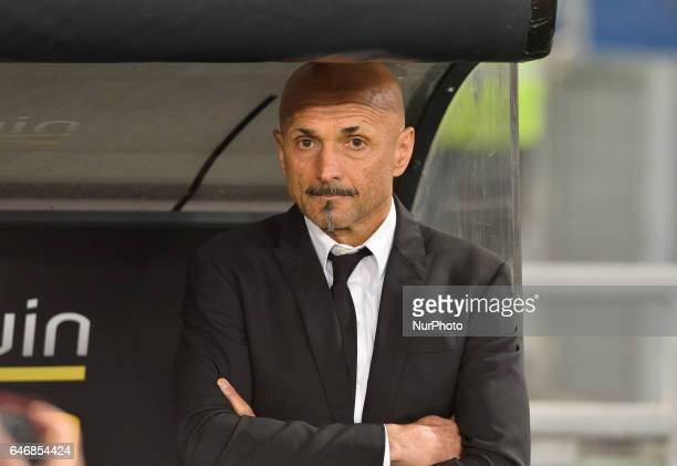 Luciano Spalletti during the Tim Cup football match SS Lazio vs AS Roma at the Olympic Stadium in Rome on march 01 2017