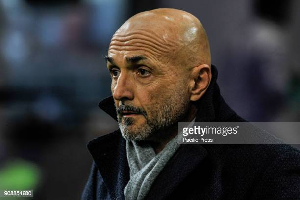 Luciano Spalletti head coach of FC Inter during Serie A football FC Inter versus AS Roma FC inter and AS Roma finish the match 11