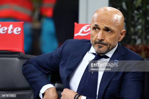Luciano Spalletti head coach of FC Internazionale look on before the Serie A match between FC Internazionale and Cagliari Calcio Fc Internazionale...