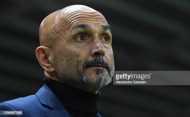 Luciano Spalletti head coach of FC Internazionale looks on before the Serie A match between Parma Calcio and FC Internazionale at Stadio Ennio...
