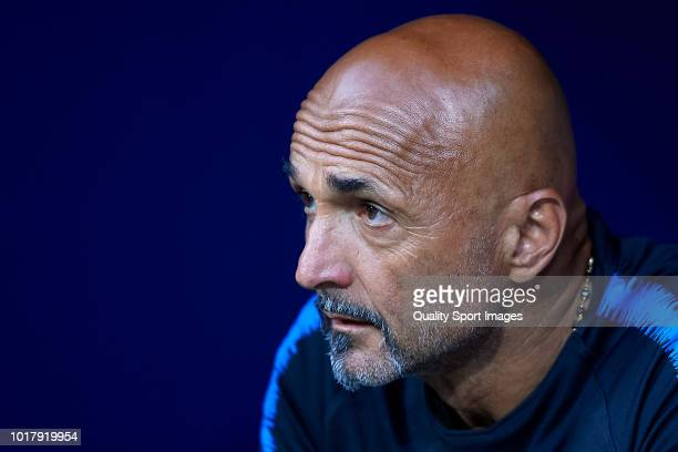 Luciano Spalletti head coach of FC Internazionale looks on prior to the International Champions Cup match between Atletico de Madrid and FC...
