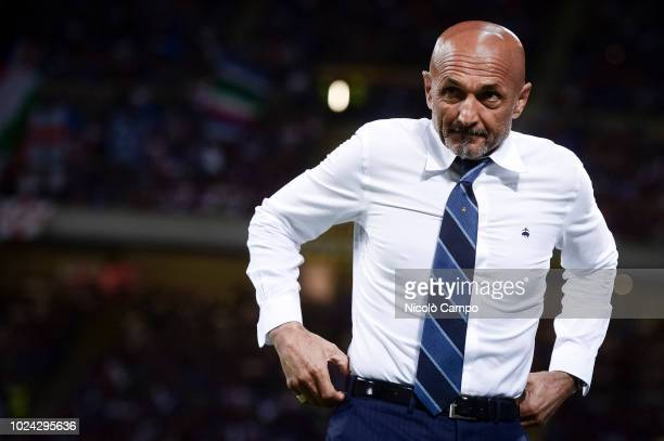 Luciano Spalletti head coach of FC Internazionale looks on prior to the Serie A football match between FC Internazionale and Torino FC The match...