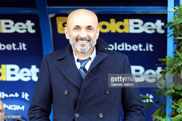 Luciano Spalletti head coach of FC Internazionale smile during the Serie A match between Empoli and FC Internazionale at Stadio Carlo Castellani on...