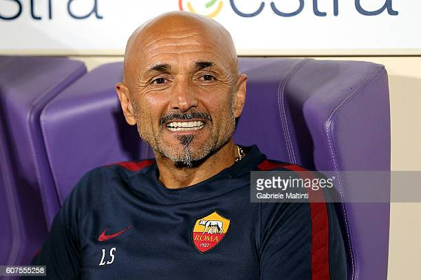 Luciano Spalletti manager of AS Roma looks during the Serie A match between ACF Fiorentina and AS Roma at Stadio Artemio Franchi on September 18 2016...