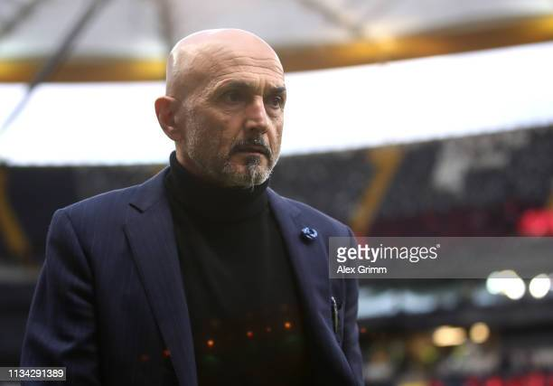 Luciano Spalletti Manager of FC Internazionale during the UEFA Europa League Round of 16 First Leg match between Eintracht Frankfurt and FC...