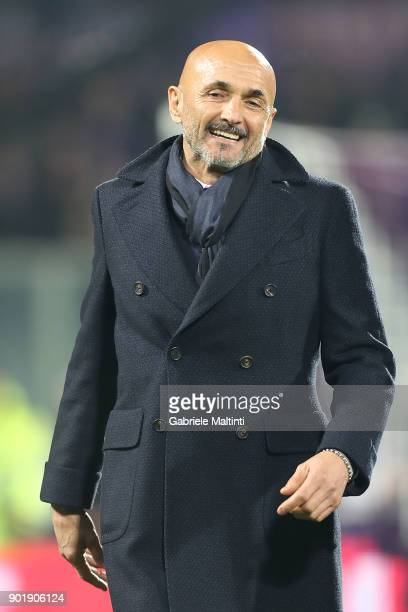 Luciano Spalletti manager of FC Internazionale reacts during the serie A match between ACF Fiorentina and FC Internazionale at Stadio Artemio Franchi...