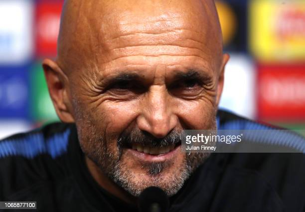 Luciano Spalletti Manager of Inter Milan attends an Inter Milan press conference at Wembley Stadium on November 27 2018 in London England
