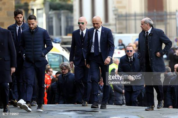Luciano Spalletti manager of Internazionale during the funeral of Davide Astori on March 8 2018 in Florence Italy The Fiorentina captain and Italy...