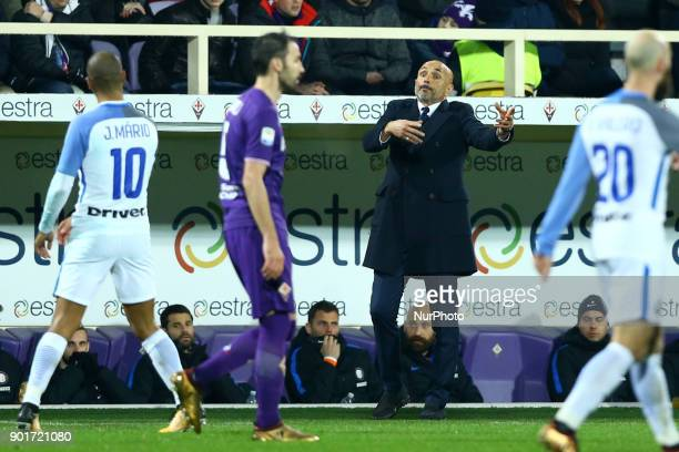Luciano Spalletti of Internazionale at Artemio Franchi Stadium in Florence Italy on January 5 2017