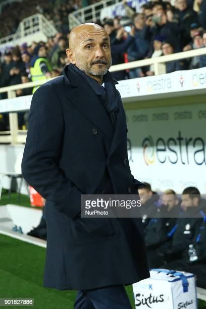Luciano Spalletti of Internazionale during the serie A match between ACF Fiorentina and FC Internazionale at Stadio Artemio Franchi on January 5 2018...