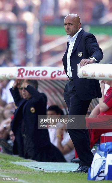 Luciano Spalletti of Udinese looks on during the Serie A match between Udinese and AC Milan at at Friuli Stadium May 29 2005 in Udine Italy