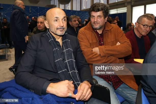 """Luciano Spalletti , Silvio Balfini and Aurelio Andreazzoli during the """"Panchina D'Oro Prize"""" award at Centro Tecnico Federale di Coverciano on..."""