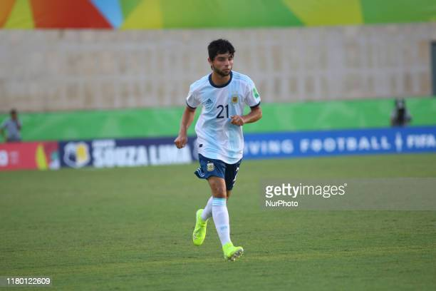 Luciano Vera of Argentina during the FIFA U17 World Cup Brazil 2019 Group E match between Argentina and Tajikistan at Estadio Kleber Andrade on...