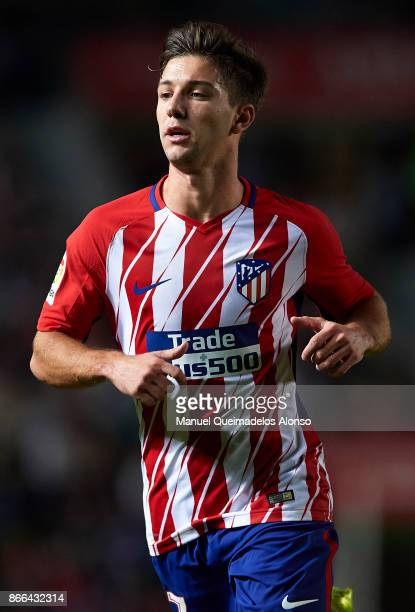 Luciano Vietto of Atletico de Madrid looks on during the Copa del Rey first leg match between Elche CF and Atletico de Madrid at Estadio Martinez...