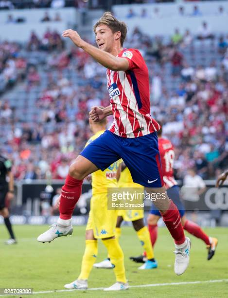Luciano Vietto of Atletico Madrid celebrates after scoring his team's second goal during the Audi Cup 2017 match between Club Atletico de Madrid and...